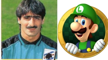 Giulio Nuciari e Luigi di Super Mario Bros