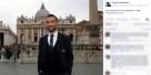 Quagliarella posta sulla sua pagina Facebook la foto in piazza San Pietro prima dell'udienza dal Papa