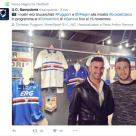 """In settimana Cristian Puggioni e Vasco Regini sono stati ospiti della mostra """"Eroi del calcio"""" di Genova"""