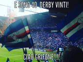 La Sampdoria vince il suo derby numero 40 grazie ai gol di Muriel e all'autogol di Izzo.