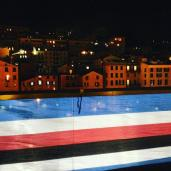 Genova vista dal Museo Galata Mare in occasione della festa della Federclubs a novembre 2016.