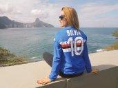La martellista italiana Silvia Salis, dieci volte campionessa italiana, ha portato il blucerchiato a Rio de Janeiro (Brasile)