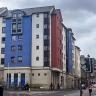 Palazzi blucerchiati a Edimburgo, in Scozia