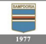 Il logo della Sampdoria del 1977